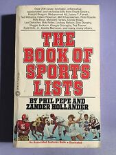 THE BOOK OF SPORTS LISTS 1979 by Phil Pepe and Zander Hollander