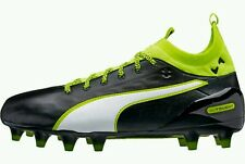 Puma Evotouch 1 Fg Leather Soccer Cleats Youth Us 4 Black Volt New $125