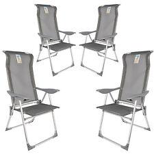 4x Alu Klappstuhl Garten Stuhl Camping Hochlehner verstellbar stabil Aluminium
