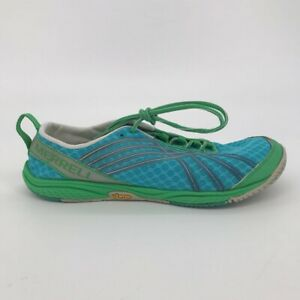 Merrell Womens Road Glove Dash 2 Running Shoes Blue J58094 Lace Up Low Top 9.5M