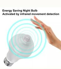 PIR Motion Sensor E27 7W LED Lamp Bulb Infrared Auto Energy Saving Light