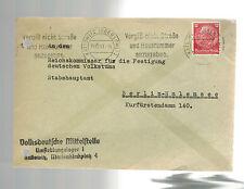 1941 Germany Kattowitz Cover Volks Deutsche Commisar at Camp to Berlin