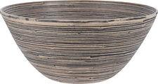 Deko Bambus Schale 30x14 cm - Holz Tischdeko Schüssel rund Obstschale Holzschale