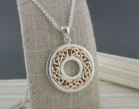 Sterling Silver & 10K  Celtic Knot Pendant by Keith Jack Jewelry