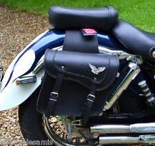 Sacoches cavaliéres en Cuir Avec Aigle - pour moto custom harley shadow virago .