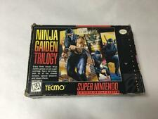 NINJA GAIDEN TRILOGY (SUPER NINTENDO, SNES) W/ BOX & MANUAL AUTHENTIC TESTED
