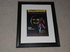 """Framed German Halloween 1978 Mini-Poster, Rare Release John Carpenter 14""""x17"""""""
