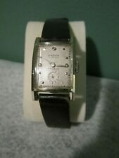 C 1948 Gruen Curvex 14K White Gold & Diamond Dial 17J Watch GXC 440 Mov't