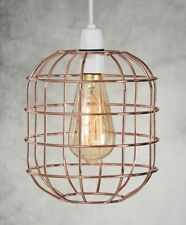 Retro Style Easy Fit Metal Pendant Wire Cage Light Shade Funky Modern Rustic in