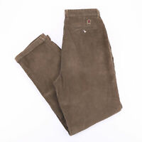 Vintage TOMMY HILFIGER Straight Fit Khaki Green Men's Corduroy Pants W34 L35
