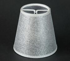 Lampenschirm Aufsteck Silber Farbend  E14 Kronleuchter Wandlampe Gitter Netz