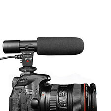 Stereo Shotgun Recording Camera Microphone Mic for Canon Nikon DSLR Camera