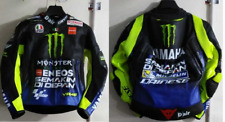 NEW 2019 Valentino Rossi MOVISTAR LEATHER RACING JACKET 100%COWHIDE MOTOGP
