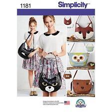 SIMPLICITY SEWING PATTERN BAGS FOX BAG DOG BAG OWL BAG  1181