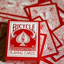 Red Reversed Back Bicycle Playing Cards Poker Size Deck USPCC + Magic Tricks
