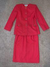 Women's Oleg Cassini Suit 2 Piece Pink Dress Jacket And Skirt Size 10