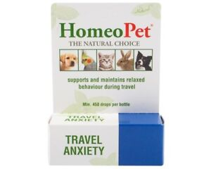 HomeoPet Travel Anxiety Relief Natural Homeopathic Remedy for Pets 15ml