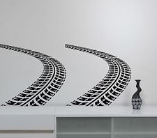 Tire Tracks Wall Decal Auto Car Trace Vinyl Sticker Road Racing Art Room Decor 2