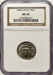 2008 $25 Quarter-Ounce Platinum American Eagle NGC MS-70