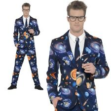 Adults Outer Space Suit Trousers Jacket Tie Mens Stag Night Fancy Dress M-XL