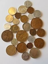 Coins Old World Foreign 24 Countries All Different Lot 1/4 pound 2 Bonus Coins