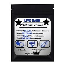 Live Hard Platinum 20 Male Enhancement Sex Erectile Pills Performance Enhancers