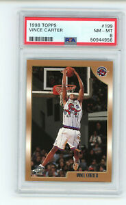 1998-99 Topps Vince Carter #199 PSA 8 NM-MINT Rookie RC Basketball Card
