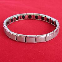 3 Nano Energy Bracelet (Silver) - 20 Germanium Stones Titanium