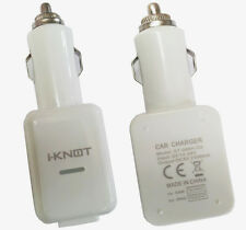Genuine iKnot Dual Usb Car Charger Cigarette Lighter For Samsung Galaxy S3/S4/S2