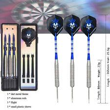 3Pcs Professional Steel Tip Dart Set Tungsten Barrel Aluminium Shafts Darts 28g