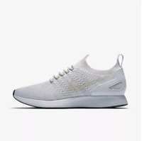 New Nike Men s Air Zoom Mariah Flyknit Racer Shoes (918264-011) Pure  Platinum 7d9bb5a17