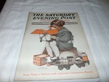 Saturday Evening Post  December 25 1909 ILLUSTRATED Christmas Toys ISSUE WEBER