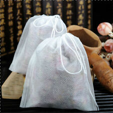 200pcs Empty Teabags String Heat Seal Filter Paper Herb Loose