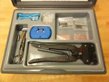 Optimate FSMA Termination Kit, Amp, Crimp, Dies, Polishing, Fiber Optic Tools