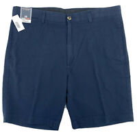 Roundtree & Yorke Casuals Mens Blue Seersucker Flat Front Shorts Size 38 9""