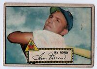1952 Topps Baseball #40 Irv Noren (RED BACK) - Lower grade