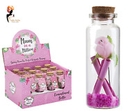 MUM COMMITMENT BOTTLE Mother's Day Message Cork Lid Glass Message Bottle GIFT UK