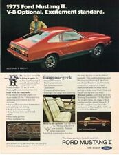 1975 Ford Mustang II Red Vtg Print Ad
