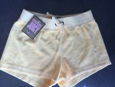 NWT Juicy Couture New & Genuine Yellow Cotton Towelling Shorts Girls Age 8