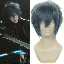 """16"""" layered Gray Noctis Lucis Caelum of Final Fantasy Versus Cosplay Wig 168A"""