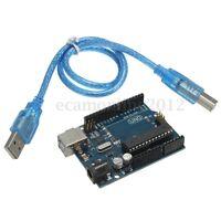 ARDUINO UNO R3 Rev3 ATmega328 COMPATIBILE Scheda di Sviluppo + CAVO USB DIY