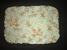 """FAB! Ralph Lauren Floral Ruffled Cotton Boudoir Throw Pillowcase Only 19""""x 13"""""""