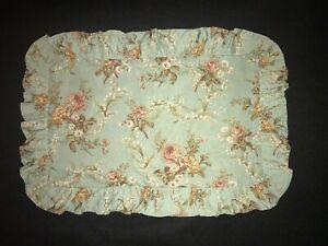 """FAB! Ralph Lauren Floral Ruffled Cotton Boudoir Throw Pillow Cover 19""""x 13"""""""