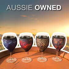 4 x WINE GLASS COOLERS - Quality Neoprene | 4 Different Designs