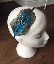 Peacock Feather Headband Vintage 1920s Headpiece Gatsby Flapper