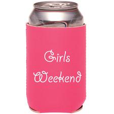 Can Cooler - Pink Girls Weekend Neoprene 12oz Beer Hugger Coolie Gift