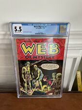 Web of Mystery #27 CGC 5.5 - 1954 Pre-Code Horror - Hanging Cover