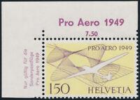 SCHWEIZ 1949, MiNr. 518 a, postfrische Luxus Bogenecke, Mi. 45,-