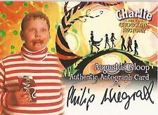 "Charlie & the Chocolate Factory: Philip Wiegratz ""Augustus Gloop"" Autograph Card"