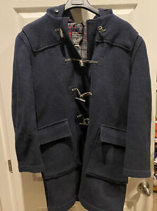 Vintage Gloverall Ltd Made in England Navy Mens Wool Duffle Coat Size 42